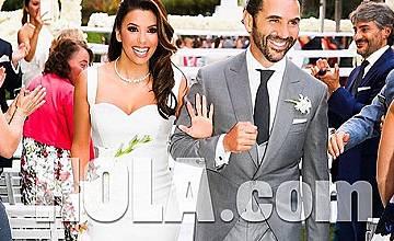 Ева Лонгория се омъжи за Хосе Бастон (снимки)