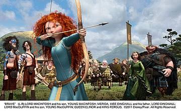 Дръзка шотландска девойка се изправя срещу традициите в анимацията Храбро сърце