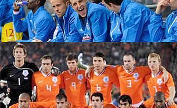 Отборите на Уругвай и Холандия преди първия полуфинален мач на Мондиал 2010, тази вечер по БНТ от 21:20ч