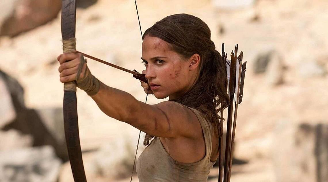 """Алисия Викандер в """"Tomb Raider: Първа мисия"""""""